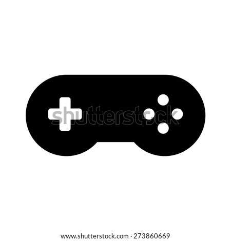 Classic videogame / video game controller or gamepad flat vector icon for apps and websites vi