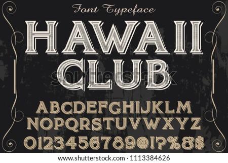 stock-vector-classic-vintage-decorative-font-label-design-named-hawaii-club