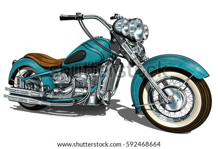 classic vintage motorcycle.