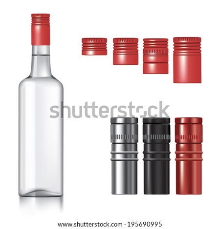 classic vodka bottle with