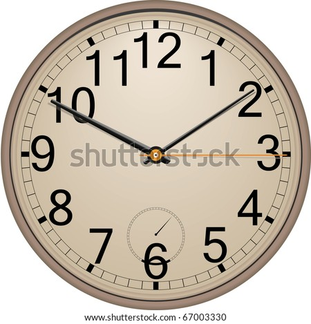 Classic wall clock. Vector. Eps 10 .
