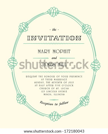 Classic wedding invitations and announcements