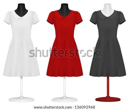 classic women's plain dress
