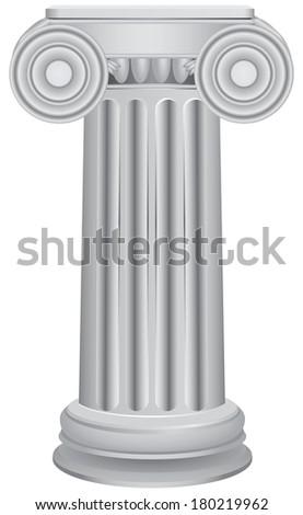Classical ancient columns - an architectural element. Vector illustration.