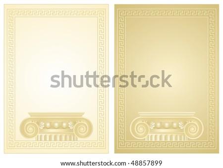 Classical antique Greek border frame
