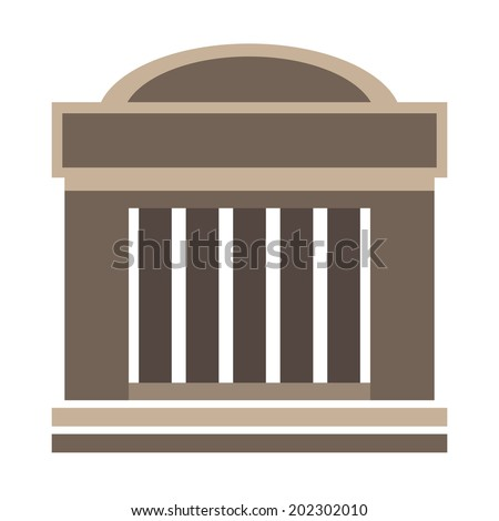 Classical architecture building, vector