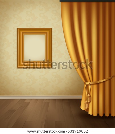 classical curtain interior with