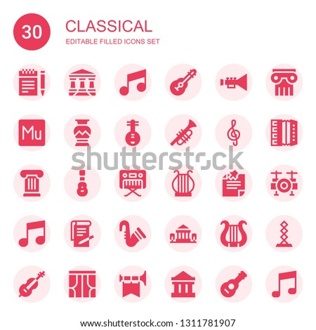 classical icon set collection