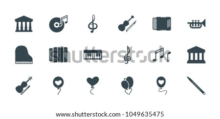 classical icons set of 18