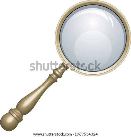 Classical metal magnifying glass loupe Photo stock ©