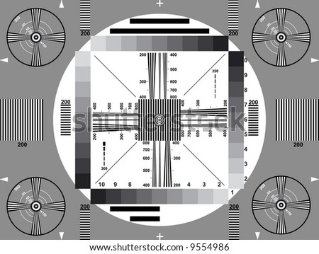 Classical monochrome television test
