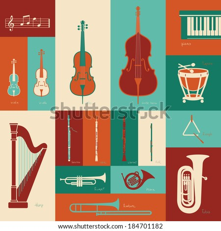 Classical music instruments