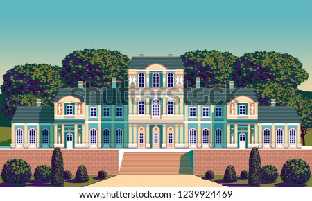 classical palace in the baroque