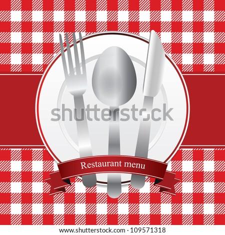 Classical red restaurant menu design