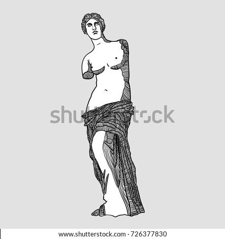 classical sculpture vector