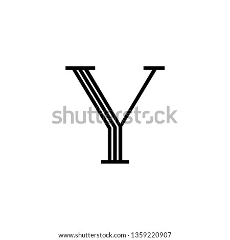Classical Vector Logo Letter Y. Y Letter Design Vector