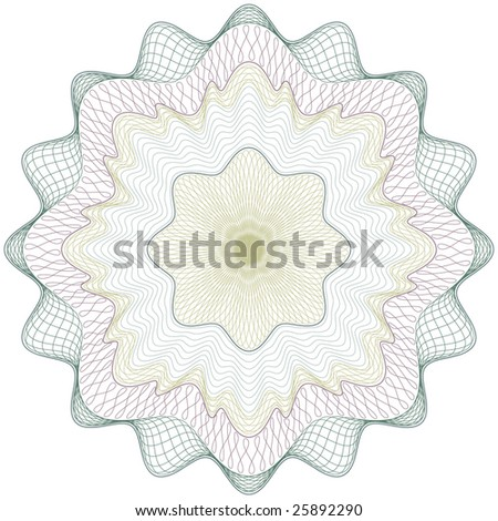 Classical vector pattern that is used in currency, tickets,  diplomas, certificates etc. Vector in CMYK