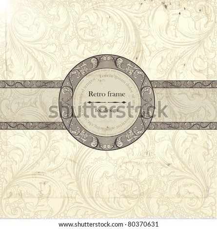 Classical wall-paper with a flower pattern