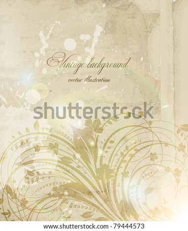Classical wall-paper with a flower pattern. eps 10. - stock vector