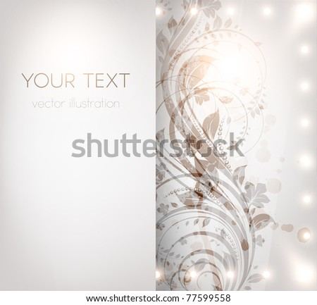 Classical wall-paper with a flower pattern for retro design. vector. - stock vector
