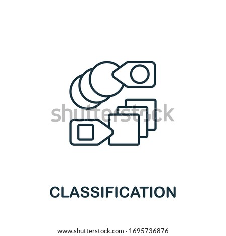 Classification icon from machine learning collection. Simple line Classification icon for templates, web design and infographics Foto stock ©