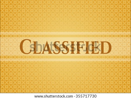 Classified banner or card