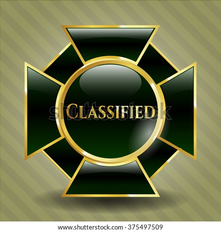 Classified gold badge