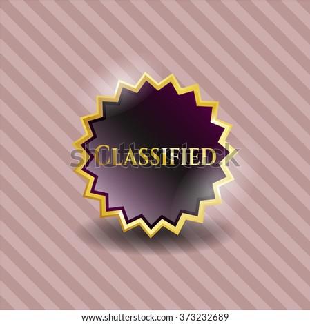 Classified shiny badge