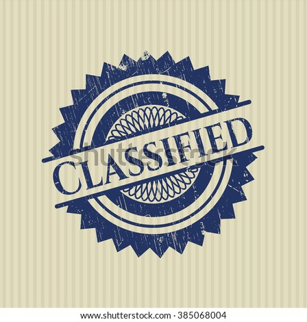 Classified with rubber seal texture