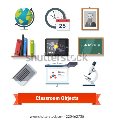 classroom objects colourful