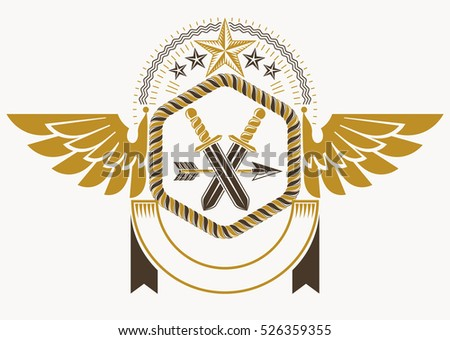 classy emblem made with eagle