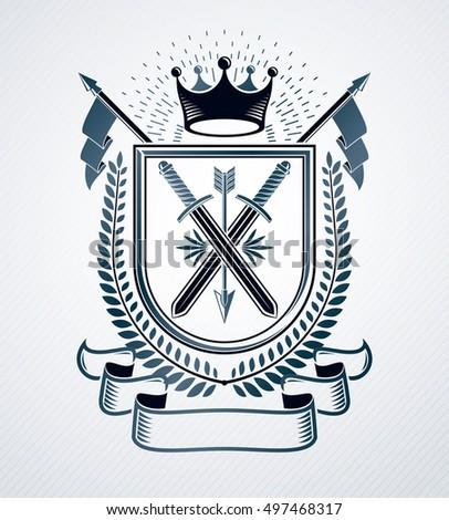 classy emblem  vector heraldic