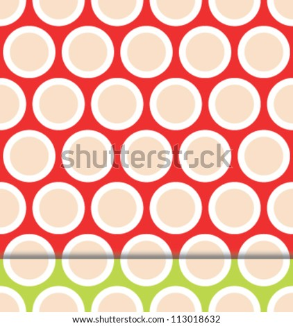 Classy seamless polka dot pattern set in two color variations