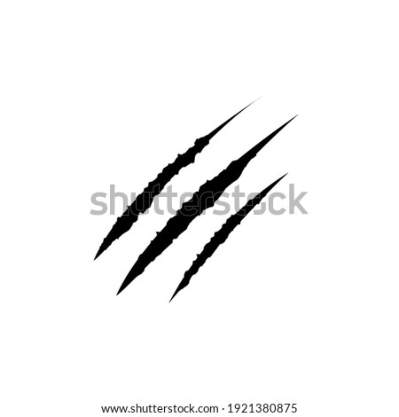 Claws scratches icon, logo isolated on white background Foto stock ©