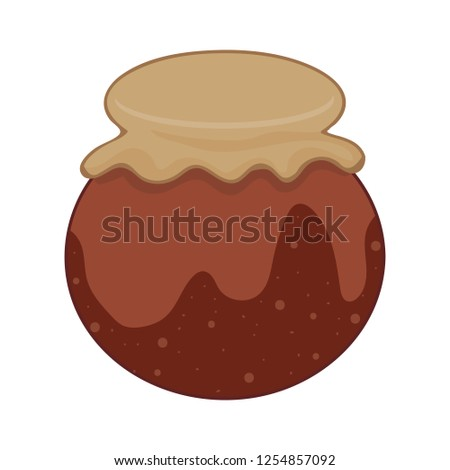 Clay pot isolated illustration on white background - Shutterstock ID 1254857092