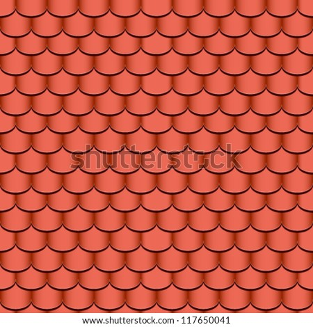 clay roof tiles seamless background - vector illustration