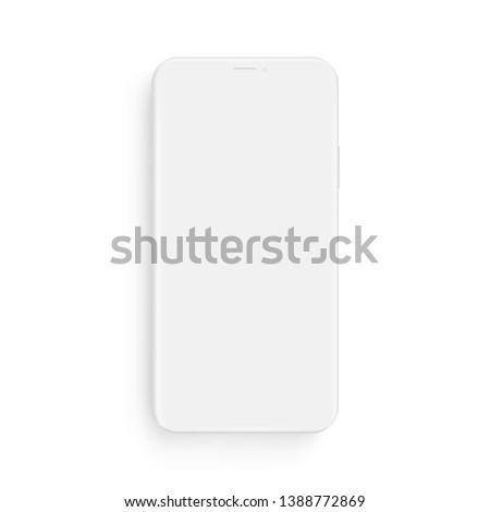 Clay smartphone mockup - front view. Vector illustration