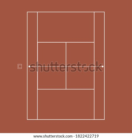 clay tennis court vector