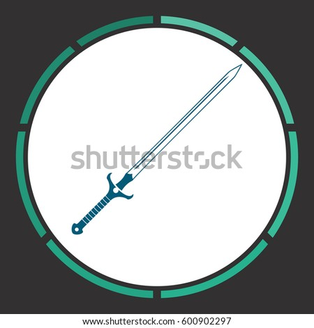 claymore icon vector flat