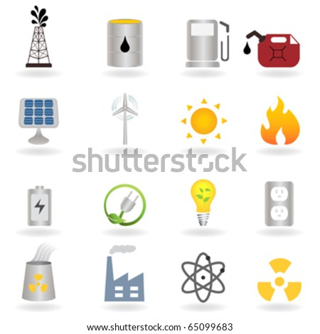 Clean alternative energy and environment symbols