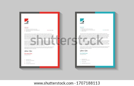 Clean And Modern Corporate Buisness Letterhead Template Design. Letterhead design for your business, print ready, corporate identity letterhead template.