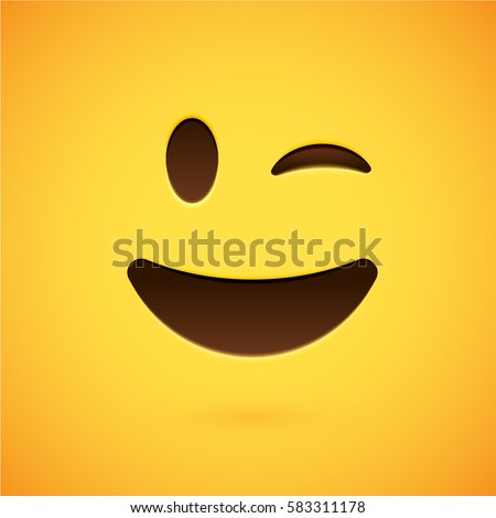 clean and shiny smiley emoticon