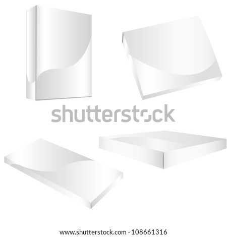 clean and white box cardboard box packaging