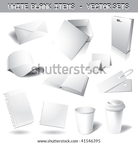 clean blank vector sets