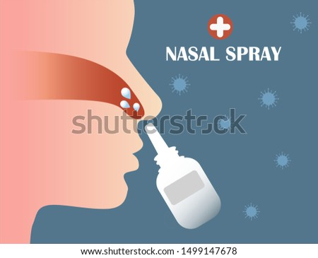 Clean dirt from your nose, spray the saline into the nose.  Season of colds and flu, seasonal illness. Nose Spray