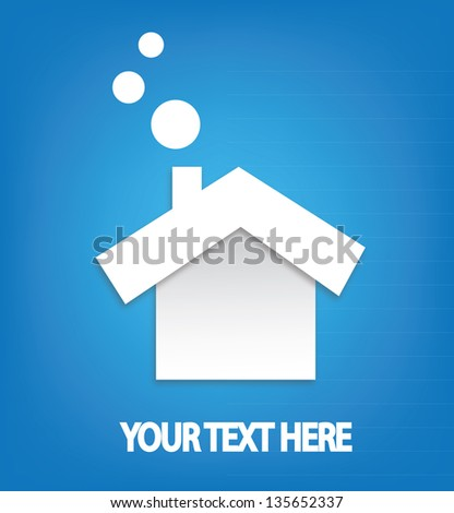 Clean energy home abstract vector design - stock vector