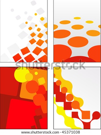 Clean geometric orange and yellow patterns