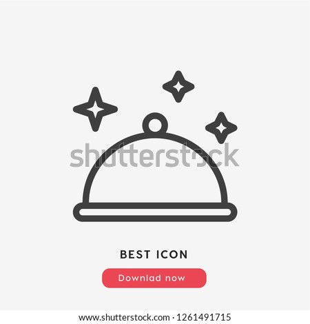 Clean icon vector. Clean dish symbol. Dishes icon vector. Linear style sign for mobile concept and web design. Clean symbol logo illustration. vector graphics - Vector.