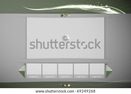 stock vector : Clean Image or Video Player Interface with Thumbnails | Easy ...