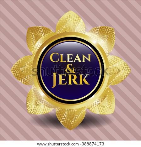 Clean & Jerk gold emblem